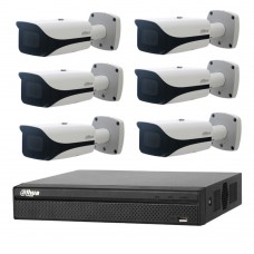 Dahua 6MP 8CH CCTV Kit: 6 x IP Motorised Bullet Cameras + 8CH NVR