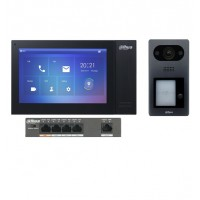 Dahua KIT-DHI-7INBLK3211D-P 7inch Touch Screen IP Intercom Kit - Black