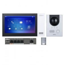 Dahua KIT-DHI-7INWHT2202F-P 7inch Touch Screen IP Intercom Kit - White