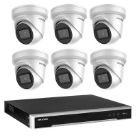 Hikvision 6MP 8CH CCTV Kit: 6 x IP Darkfighter Turret Cameras + 8CH NVR + Free Monitor