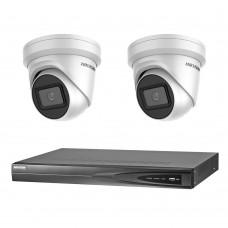 Hikvision 8MP 4CH CCTV Kit: 2 x IP Darkfighter Turret Cameras + 4CH NVR