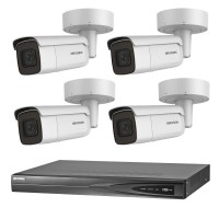 Hikvision 6MP CCTV Kit: 4 x IP Motorised Varifocal Bullet Cameras + 4CH NVR