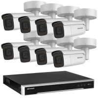 Hikvision 6MP CCTV Kit: 8 x IP Motorised Varifocal Bullet Cameras + 8CH NVR