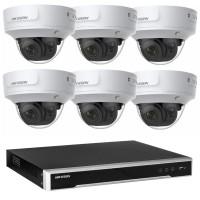 Hikvision 6MP CCTV Kit: 6 x IP Darkfighter Motorised Varifocal Dome Cameras + 8CH NVR