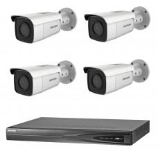 Hikvision 6MP 4CH CCTV Kit: 4 x IP Darkfighter Bullet Cameras + 4CH NVR
