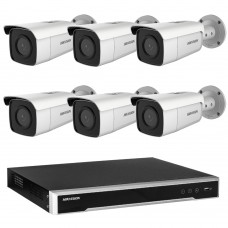 Hikvision 8MP 8CH CCTV Kit: 6 x IP Darkfighter Bullet Cameras + 8CH NVR