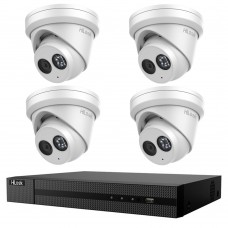 Hikvision HiLook 8MP 4CH CCTV Kit: 4 x IP Turret Cameras + 4CH NVR