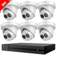Hikvision HiLook 8MP 8CH CCTV Kit: 6 x IP Turret Cameras + 8CH NVR