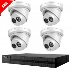 Hikvision HiLook 6MP 4CH CCTV Kit: 4 x IP Turret Cameras + 4CH NVR