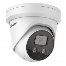 Hikvision DS-2CD2386G2IU2 8MP Outdoor AcuSense Gen 2 Turret Camera, Powered by Darkfighter, Built-in Mic, IR 30m, IP66, 2.8mm Lens