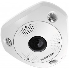 Hikvision DS-2CD63C2F-IV 12MP Outdoor Fisheye Camera, DWDR, 15m IR, ePTZ, IP66, 1.98mm Lens