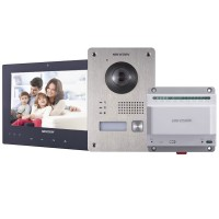 Hikvision DS-KIS701 2 Wire Video Intercom Kit – inc Door & Indoor Station + Hub