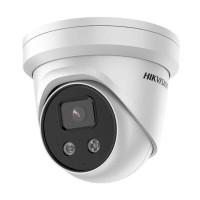 Hikvision DS-2CD2386G2-ISU/SL 8MP Outdoor AcuSense Gen 2 Turret Camera, 4K With Audible Warning & Strobe, Built-in Mic, IR 30m, IP66, 2.8mm Lens