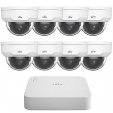 UNV Uniview 5MP 8CH IP Dome Kit 8 Cameras