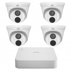 UNV Uniview 5MP 4CH IP Turret Kit 4 Cameras