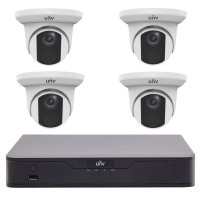 UNV Uniview 8MP 4CH IP Turret Kit 4 Cameras